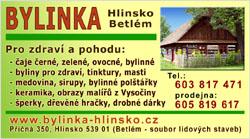 Bylinka - Hlinsko Betlém - vizitka pro tisk